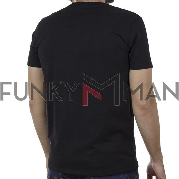Κοντομάνικη Μπλούζα T-Shirt DOUBLE TS-137B SS20 Μαύρο