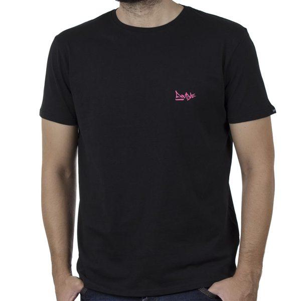 Κοντομάνικη Μπλούζα T-Shirt DOUBLE TS-138B SS20 Μαύρο