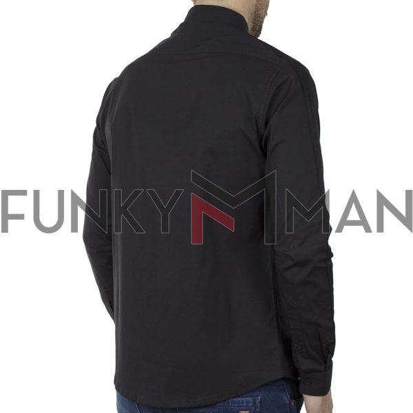 Μακρυμάνικο Πουκάμισο Comfort Fit DUKE KS10363 MICHAEL SS20 Μαύρο