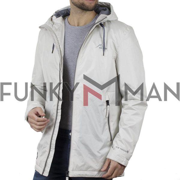Parka Jacket με Κουκούλα ICE TECH A506-17 Λευκό