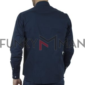 Μακρυμάνικο Πουκάμισο Comfort Fit REBASE RGS-482 SS20 Μπλε