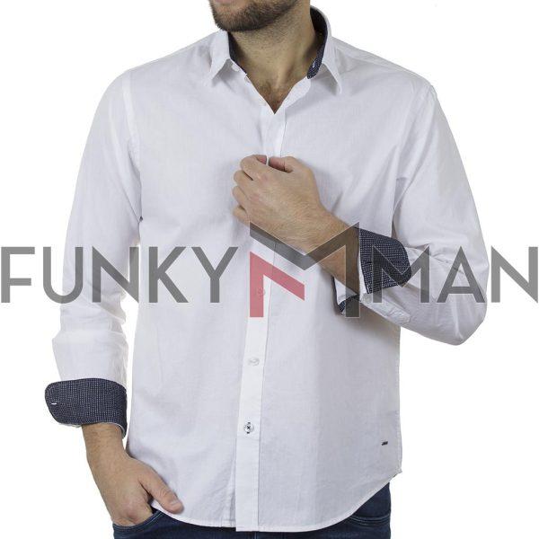 Μακρυμάνικο Πουκάμισο Comfort Fit REBASE RGS-482 SS20 Λευκό