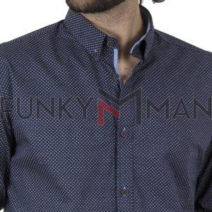 Μακρυμάνικο Πουκάμισο Slim Line Shirt DOUBLE GS-503 SS20 Navy