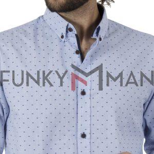 Μακρυμάνικο Πουκάμισο Slim Line Shirt DOUBLE GS-503 SS20 Sky Blue