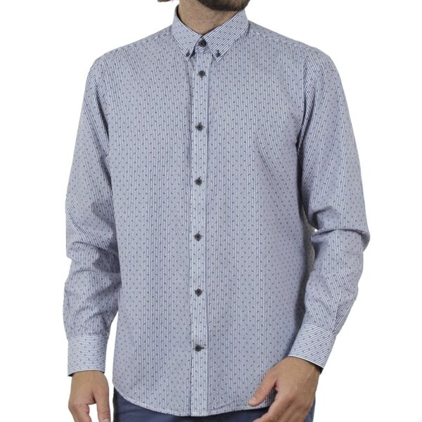 Μακρυμάνικο Πουκάμισο Slim Line Shirt DOUBLE GS-503 SS20 Stone Blue