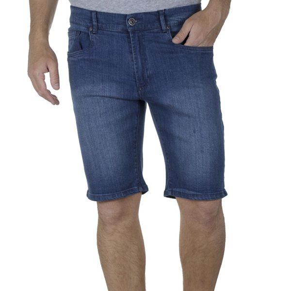 Τζιν Βερμούδα Denim Shorts DOUBLE MJS-22 SS20 Μπλε