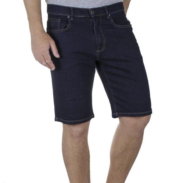 Τζιν Βερμούδα Denim Shorts DOUBLE MJS-23 SS20 σκούρο Μπλε