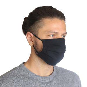 Υφασμάτινη Μάσκα Προσώπου Σετ 5 Τεμ. Μαύρο