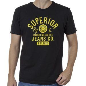 Κοντομάνικη Μπλούζα T-Shirt Cotton4all 20-903 SS20 Μαύρο