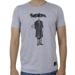 Κοντομάνικη Μπλούζα T-Shirt Cotton4all 20-917 SS20 Ανοιχτό Γκρι