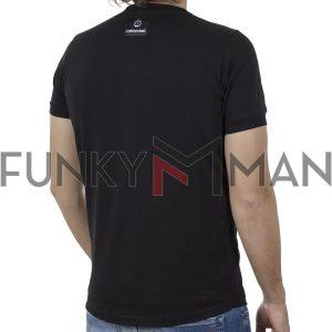 Κοντομάνικη Μπλούζα T-Shirt Cotton4all 20-920 SS20 Μαύρο