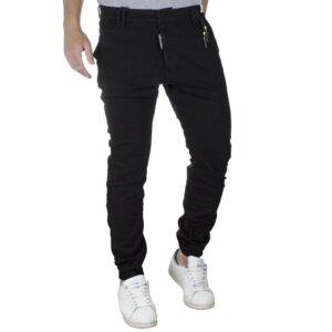 Τζιν Παντελόνι Chinos με Λάστιχο COVER TIGER G0072 SS20 Μαύρο