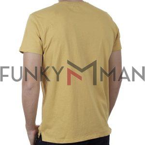 Κοντομάνικη Μπλούζα T-Shirt Garage55 GAM00121004 SS20 Κίτρινο