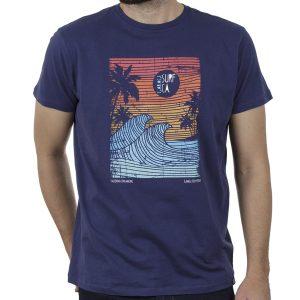 Κοντομάνικη Μπλούζα T-Shirt Garage55 GAM00122204 SS20 Μπλε