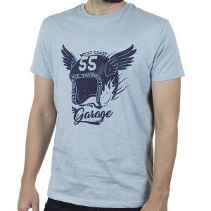 Κοντομάνικη Μπλούζα T-Shirt Garage55 GAM00122804 SS20 Aqua