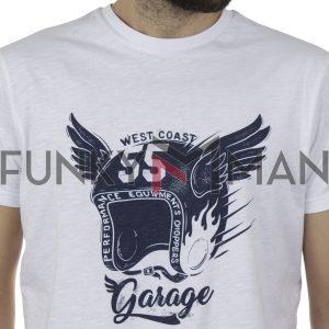Κοντομάνικη Μπλούζα T-Shirt Garage55 GAM00122804 SS20 Λευκό