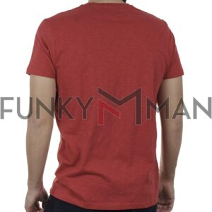Κοντομάνικη Μπλούζα T-Shirt Garage55 GAM00122904 SS20 Κόκκινο