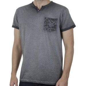 Κοντομάνικη Μπλούζα Henley T-Shirt Garage55 GAM00123104 SS20 Γκρι
