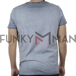 Κοντομάνικη Μπλούζα T-Shirt Garage55 GAM00123604 SS20 Ανοιχτό Μπλε