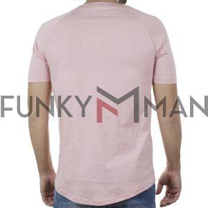 Κοντομάνικη Μπλούζα T-Shirt PONTEROSSO 20-1040 INFLU SS20 Ροζ