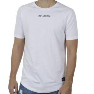 Κοντομάνικη Μπλούζα T-Shirt PONTEROSSO 20-1040 INFLU SS20 Λευκό