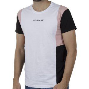 Κοντομάνικη Μπλούζα T-Shirt PONTEROSSO 20-1043 3COLOUI SS20 Λευκό