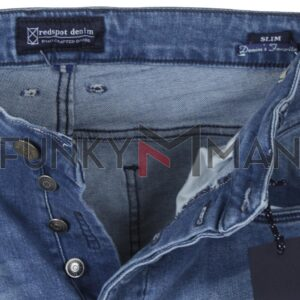 Τζιν Παντελόνι Slim Fit REDSPOT MARTINE M Ανοιχτό Μπλε