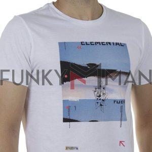 Κοντομάνικη Μπλούζα T-Shirt SCINN ST100 SS20 Λευκό