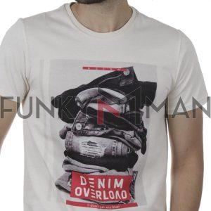 Κοντομάνικη Μπλούζα T-Shirt SCINN ST103 SS20 Εκρού