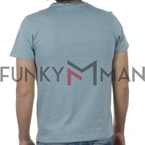 Κοντομάνικη Μπλούζα T-Shirt SCINN ST106 SS20 Ανοιχτό Μπλε
