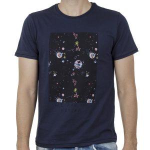Κοντομάνικη Μπλούζα T-Shirt SCINN ST106 SS20 Σκούρο Μπλε