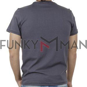 Κοντομάνικη Μπλούζα T-Shirt SCINN ST107 SS20 Ανθρακί