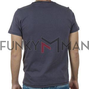 Κοντομάνικη Μπλούζα T-Shirt SCINN ST109 SS20 Ανθρακί
