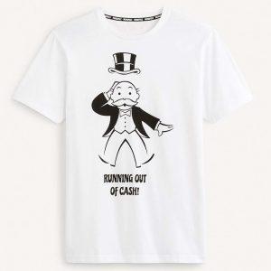 Κοντομάνικη Μπλούζα Monopoly T-Shirt Celio LREBAR3 SS20 Λευκό
