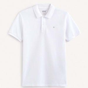Κοντομάνικο Polo Pique Supima Cotton Celio RECEONE1 SS20 Λευκό