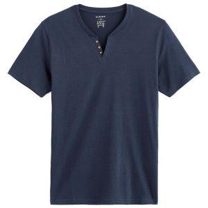 Κοντομάνικη Μπλούζα Henley T-Shirt Celio RENEBET SS20 Navy