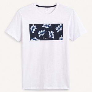 Κοντομάνικη Μπλούζα T-Shirt Celio REXOIL SS20 Λευκό
