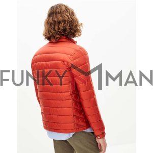 Ελαφρύ Μπουφάν Puffer Jacket CELIO RUNEW SS20 ανοιχτό Κόκκινο