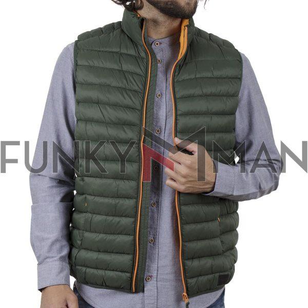 Αμάνικο Μπουφάν-Γιλέκο Puffer Jacket BLEND 20709716 SS20 Χακί