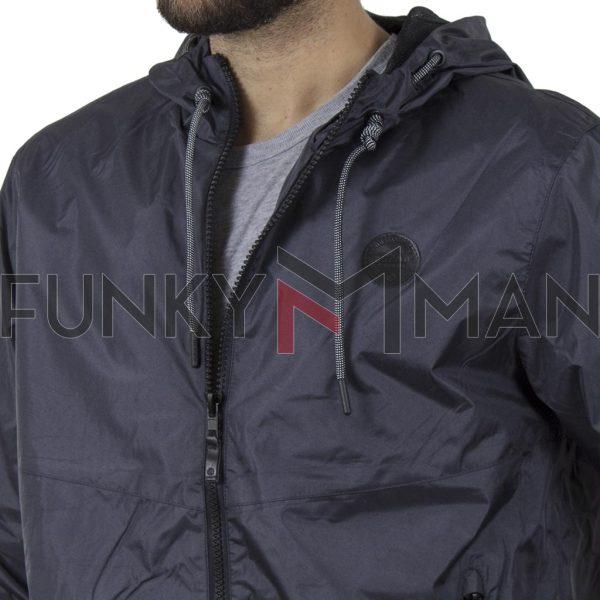 Αντιανεμικό Ελαφρύ Μπουφάν με Κουκούλα Jacket BLEND 20709720 SS20 Μπλε