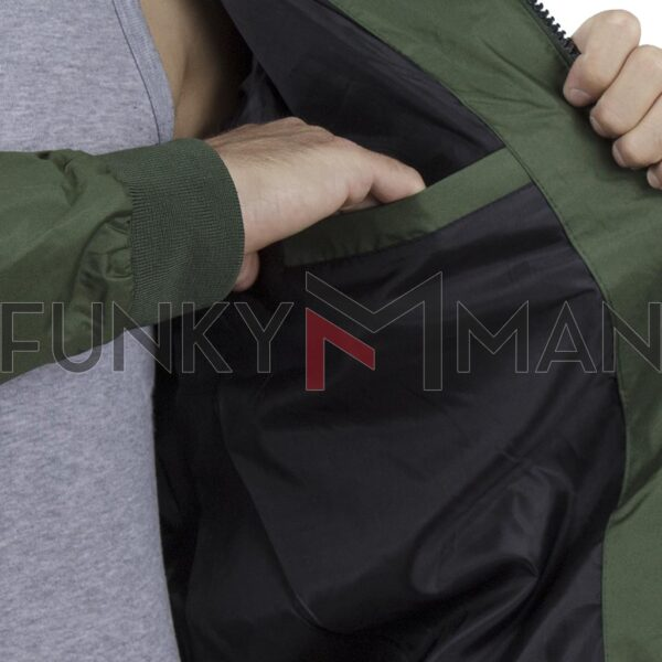 Αντιανεμικό Μπουφάν με Κουκούλα Jacket BLEND 20709720 SS20 Χακί