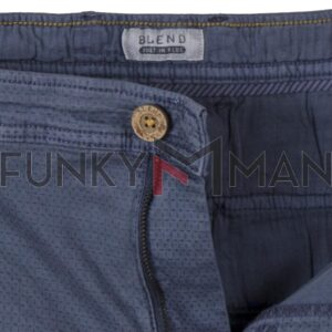 Chinos Βαμβακερό Παντελόνι Fabric Design Slim Fit BLEND 20709752 SS20 Indigo