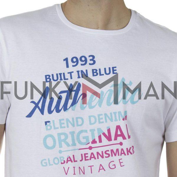 Κοντομάνικη Μπλούζα T-Shirt BLEND 20709758 SS20 Λευκό