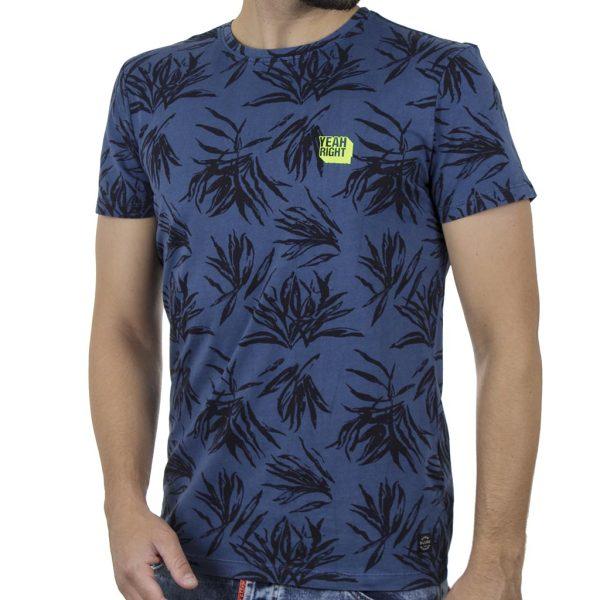 Κοντομάνικη Μπλούζα All Over Print T-Shirt BLEND 20709761 Φλοράλ Μπλε