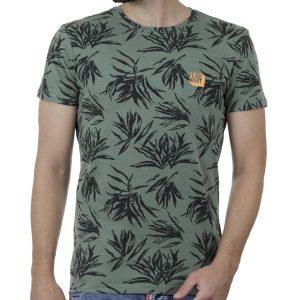 Κοντομάνικη Μπλούζα All Over Print T-Shirt BLEND 20709761 Φλοράλ Πράσινο