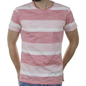 Ριγέ Κοντομάνικη Μπλούζα T-Shirt BLEND 20709769 SS20 Ροζ