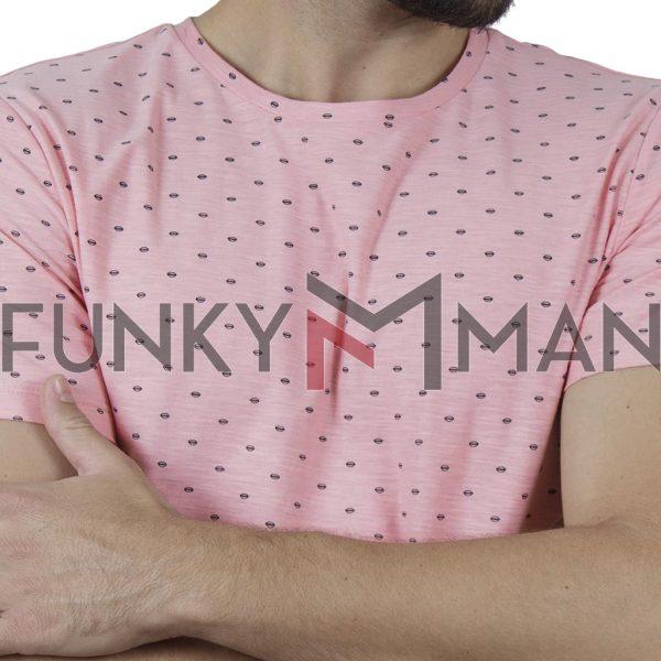 Κοντομάνικη Μπλούζα All Over Print T-Shirt BLEND 20709774 SS20 Ροζ