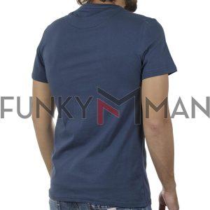 Κοντομάνικη Μπλούζα T-Shirt BLEND 20709788 SS20 Indigo Μπλε
