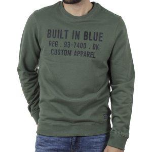 Φούτερ Βαμβακερή Μπλούζα BLEND 20709842 SS20 Χακί