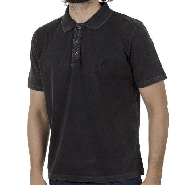 Κοντομάνικη Μπλούζα Polo Pique 200gr CARAG 20-550-20N SS20 Μαύρο